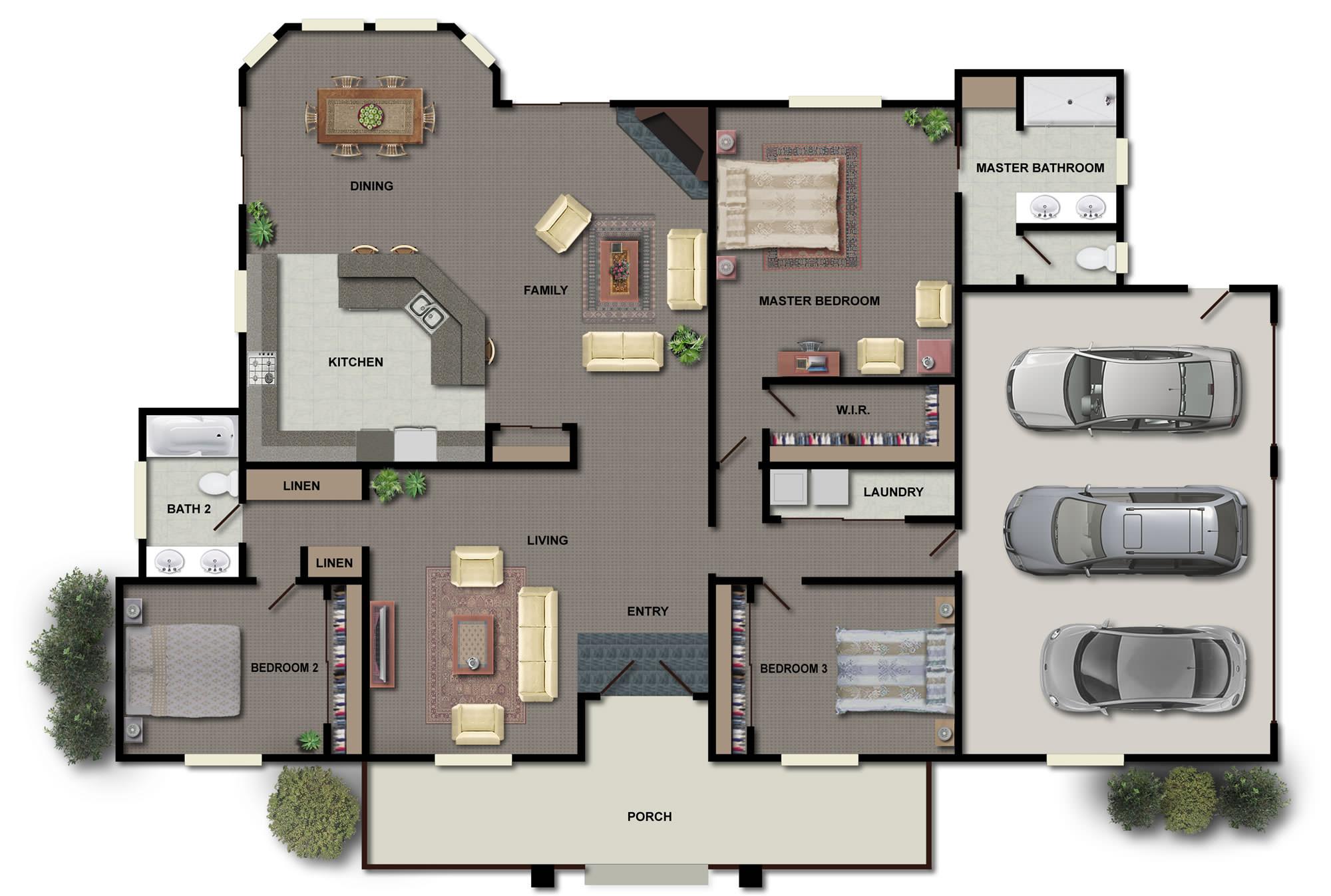 Sunhill Cottage floorplan 3