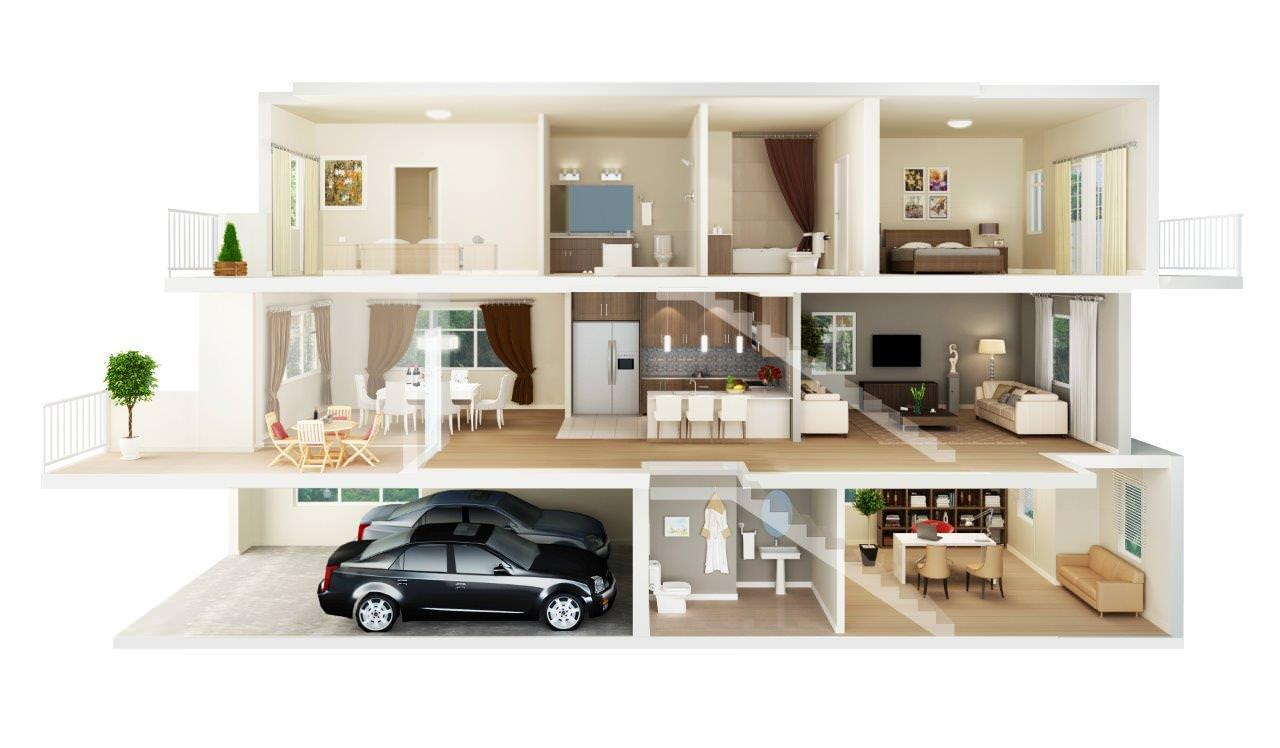 Five Steps floorplan 4