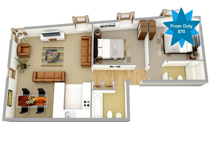 Nurse's Cottage floorplan