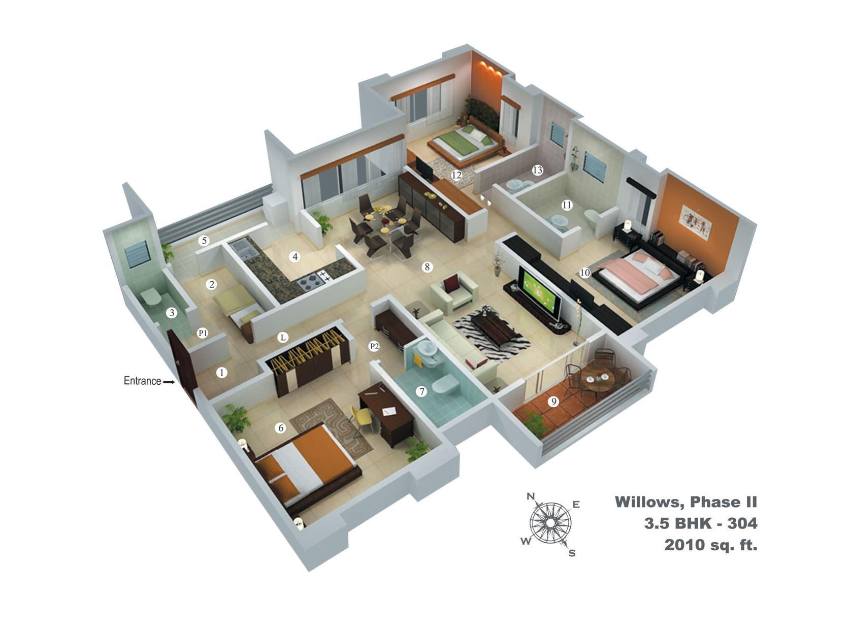 Pretty Corner floorplan 3