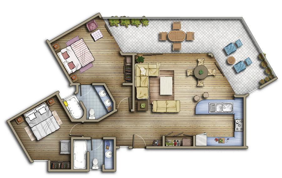 London Eye floorplan 3